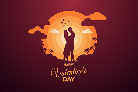 Happy Valentine's day abstract background. Set background for covers, invitations, posters, banners, flyers, placards. Happy Valentine's day composition in paper cut style. Vector illustration. Vetores