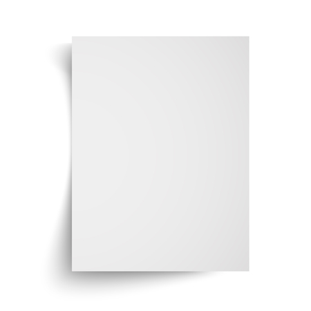 Realistic blank white A4 sheet template with soft shadows on white background. Vector Illustration EPS10 Иллюстрация
