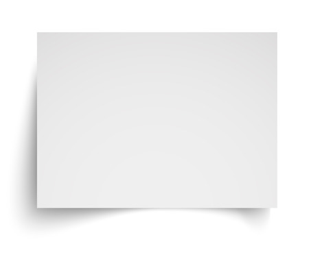 Realistic blank white A4 sheet template with soft shadows on white background. Vector Illustration EPS10 Stock Illustratie