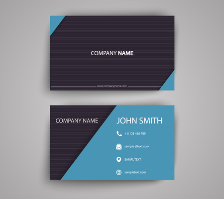 Creative Double-sided Business Card Template. Stationery Design. Flat Design Vector Illustration EPS10 Stock Vector - 122688401
