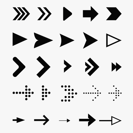 Arrow Icon vector Set. Vector pointers icons for web navigation design elements. Vector illustration EPS 10