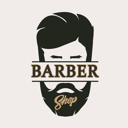 Barber shop isolated  Label Retro.