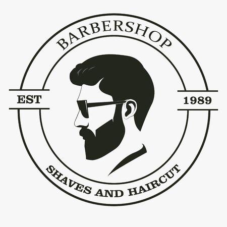 Barber shop isolated  Label Retro. Фото со стока - 127482631