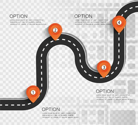Street Map with navigation icons. Navigation concept. Vector illustration road way location.