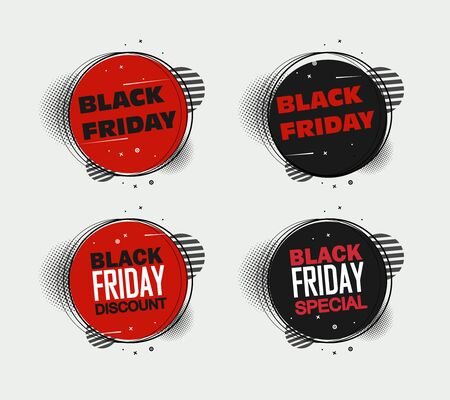 Black Friday sale inscription design template. Black Friday banner. Up to 70 off. Special offer. Vector illustration EPS10 Фото со стока - 132082893
