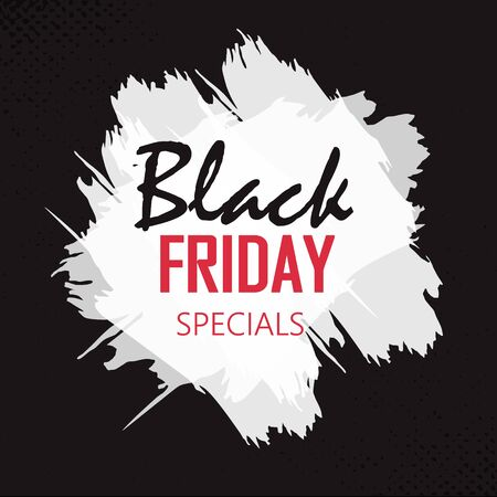 Black Friday sale inscription design template. Black Friday banner. Up to 70 off. Special offer.