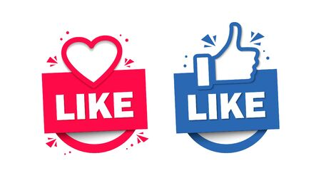 Like and Dislike. Design Elements for Marketing, Business, Advertisement, Social Network.