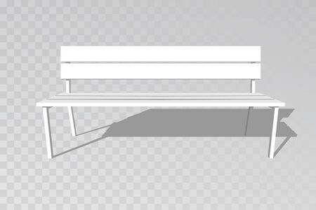 Wooden bench isolated on white background. Park brown vector bench in flat style 矢量图像
