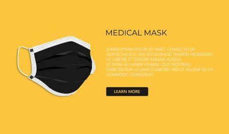 Protective breathing medical respirator mask against the virus. Stop coronavirus. Coronavirus outbreak. 免版税图像