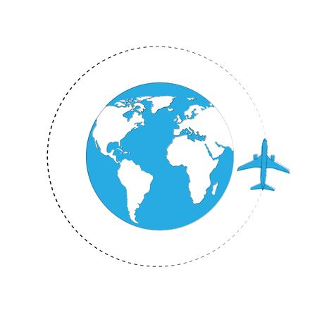 Planes. line of the plane. Airplane flight path with dash line and dash line trace. Vector Illustration 免版税图像 - 148248445