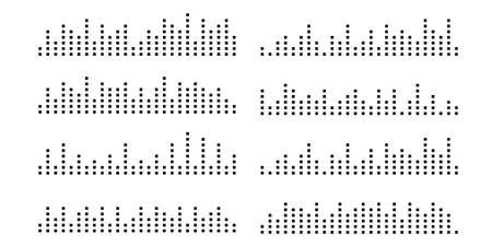 Soundwave line, audio, sound wave. Design sound spectrum, equalizer template. Music vibration element. illustration EPS 10