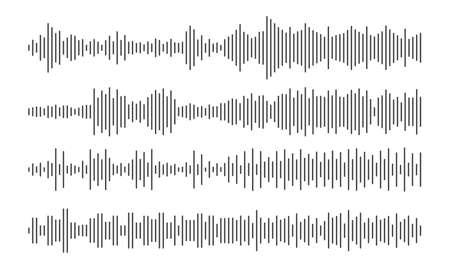 Soundwave line, audio, sound wave. Design sound spectrum, equalizer template. Music vibration element. illustration EPS 10 免版税图像 - 153588952