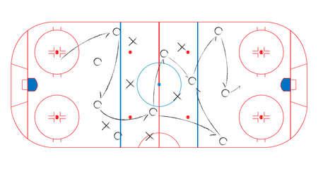 Ice Hockey Rink. EPS10 矢量图像