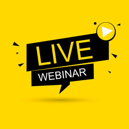 Live Webinar. Live icon, banner. 免版税图像 - 154732739