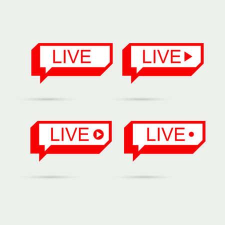 Live Webinar. Live icon, banner. 免版税图像 - 154732738