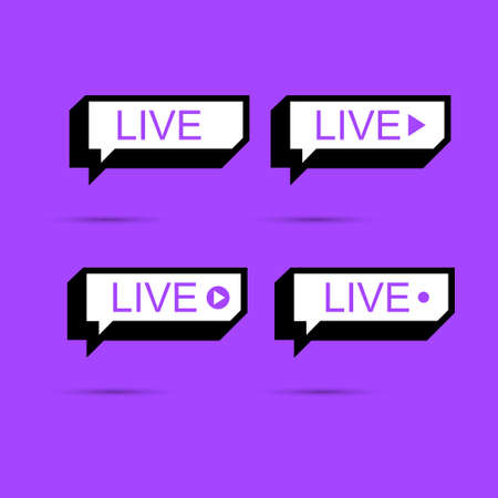 Live. Live icon, banner.