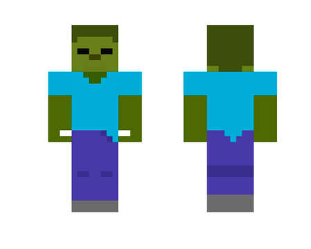 Pixel character zombie. The concept of hero games. Gaming concept zombie. Vector illustration