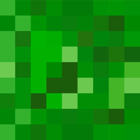 Pixel background. The concept of games background. Minecraft concept. Vector illustration
