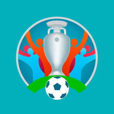 football match Sports concept tournament background.