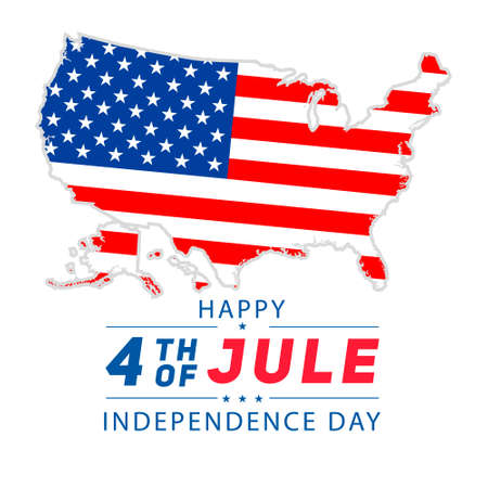 4th of july lettering for greeting cards, banner. Happy Independence Day of the United States of America. Vector background. 矢量图像