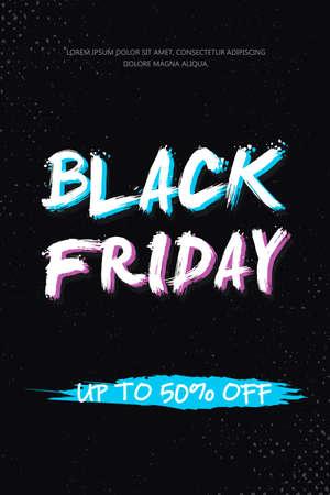 Black Friday Sale Banner.  Sale background Vector illustration.