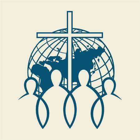 iglesia: Unidos en Cristo Vectores