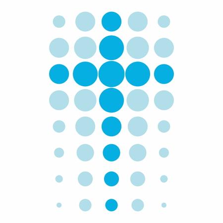 教会のロゴ。ドットをクロスします。  イラスト・ベクター素材