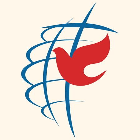 Church logo. Cross and dove