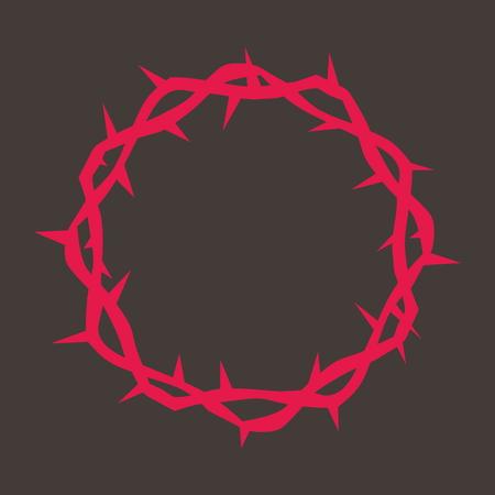 Dornenkrone in rot Standard-Bild - 46566560