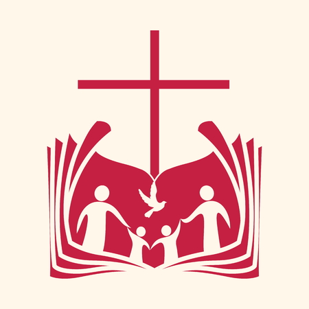 Church logo. Church of the people