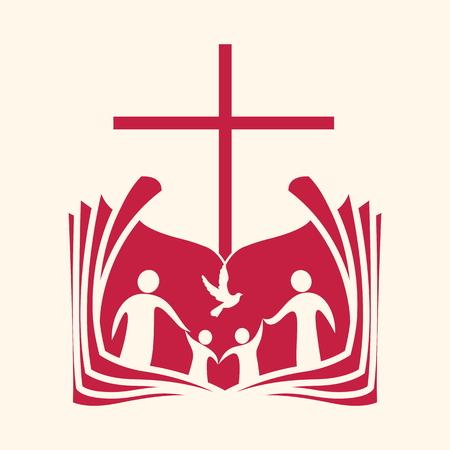 Kerk logo. Kerk van het volk