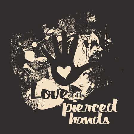 pierced: Love of the pierced hands Illustration