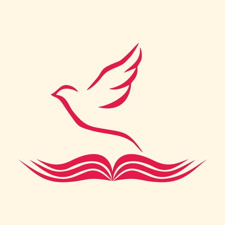 Logo Chiesa. Colomba e Bibbia aperta