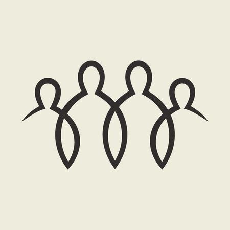 jezus: grupy osób Ilustracja