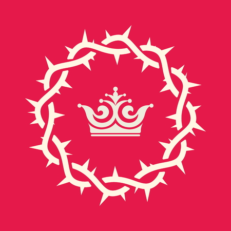 thorns: Crown, royalty, crown of thorns, king, kingdom, reign, icon Illustration