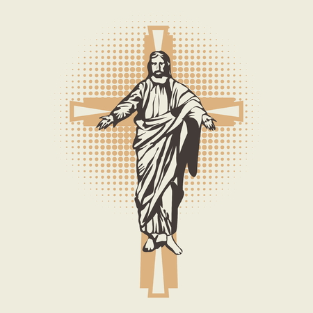 religions: Jesus on the cross icon Illustration