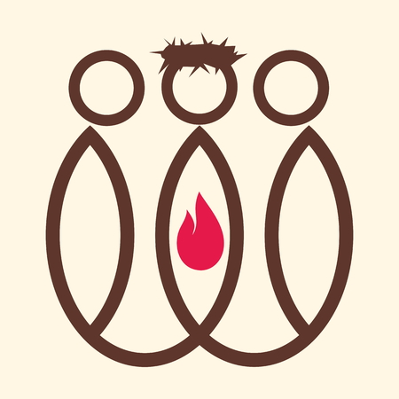biblical: Flame, Jesus, followers, leadership, biblical figure, icon, blue, red, crown of thorns, king, christianity