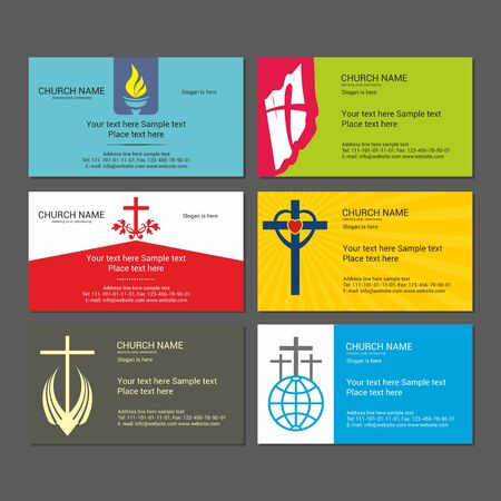 iglesia: Fije las tarjetas de negocios cristianos. Para la iglesia, el ministerio, el club y la comunidad.