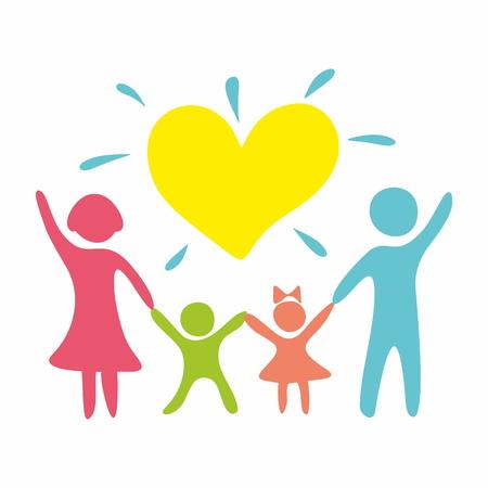 Family in love Ilustração
