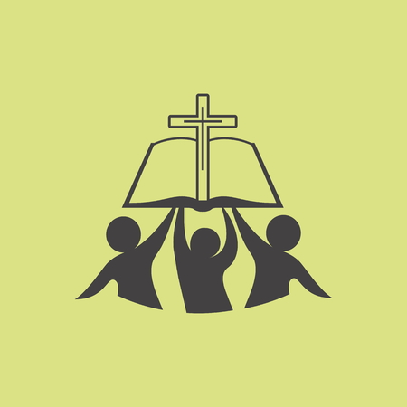 membership: Church . Membership, bible, fellowship, people, silhouettes, cross, globe, icon, symbol