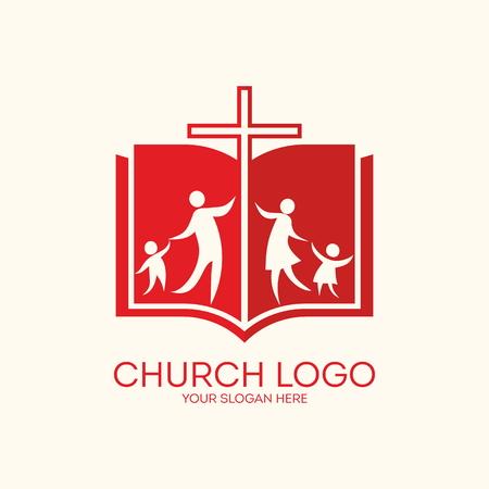 the church: Iglesia . Iglesia Familia, biblia, cruz