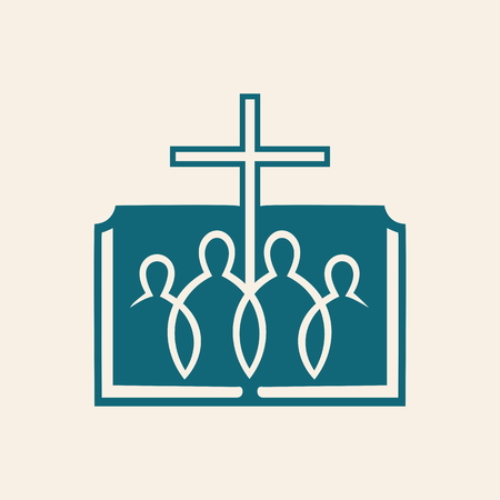 fellowship: Church logo. Christian fellowship icon