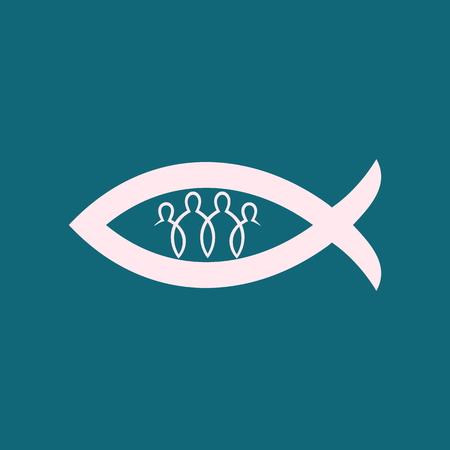 fellowship: Church logo. Christian fellowship icon