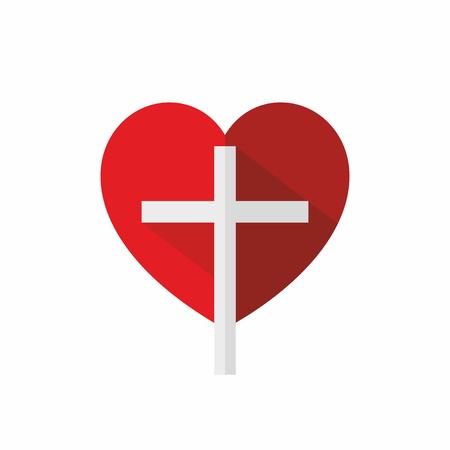 Church logo. Cross in a heart