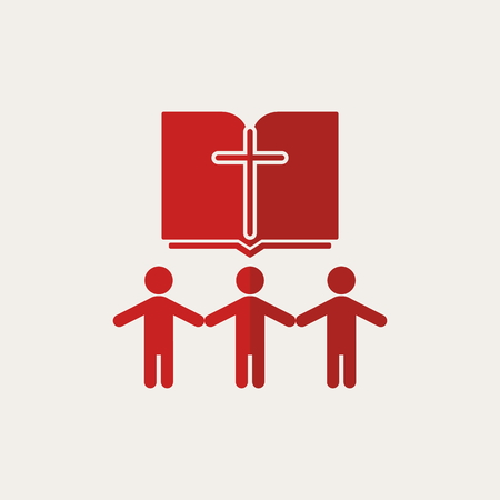 church group: Church . People holding hands, group, Bible, cross, members, church, parishioners
