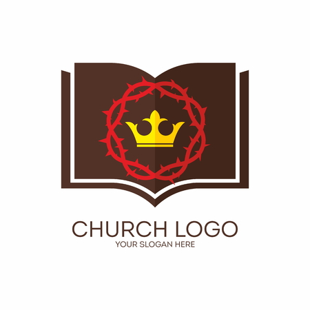 thorns: Church logo. Crown of thorns, crown, king, Bible, icon