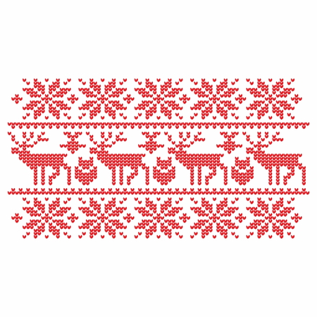 love hearts: Knitting. Christmas vector background. Deers, snow, hearts, love, pattern.