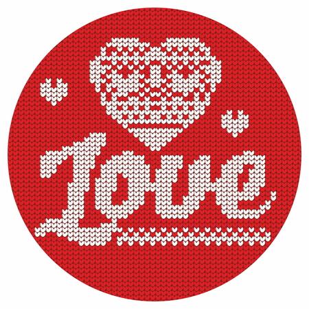 hintergrund liebe: Knitting. Christmas vector background. Love. Illustration