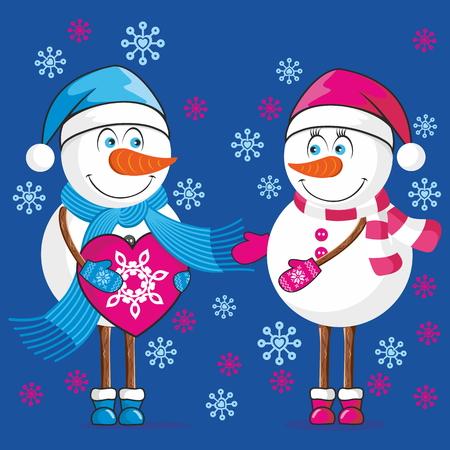 Lovers bonhommes de neige