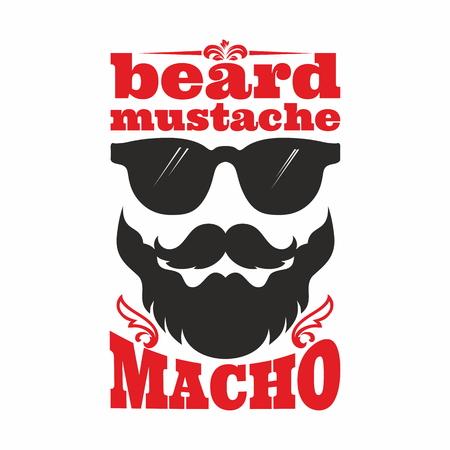 beard: Mustahe. Beard, mustache, macho.